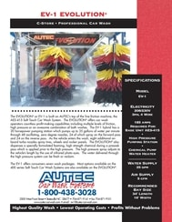 Texas car wash equipment AUTEC EV1 inbay express